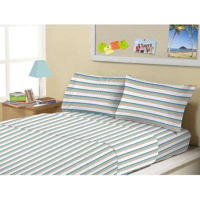 Morgan Home 3 Piece Electric Bands 1500 Thread Count Kids Sheet Sets