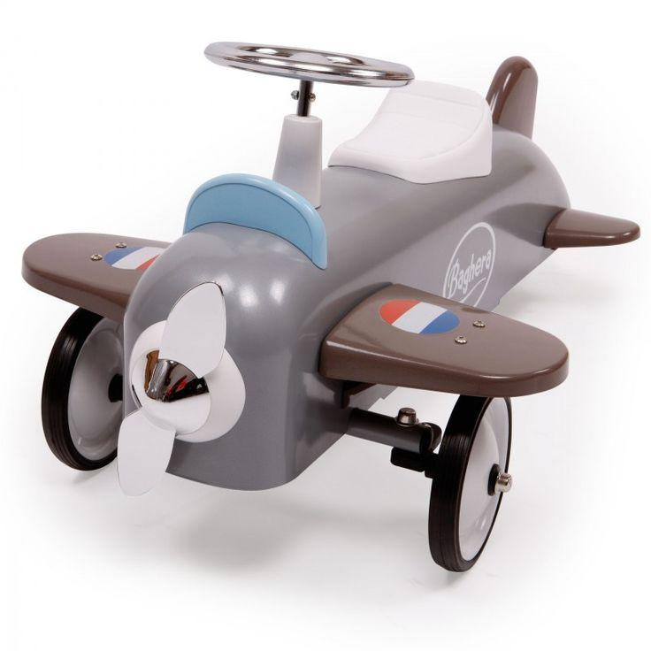 Детский самолет Baghera Speedster, серый, для детей 1-3 лет