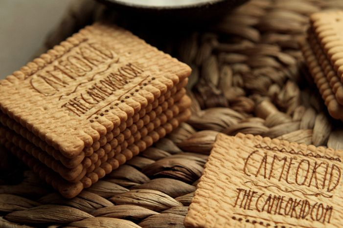 Laser engraved biscuits?! Absolutely! A possible idea would be a set of cookies each with a different message on it.