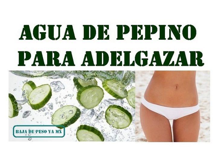 Cómo preparar agua de pepino adelgazante | Cuidar de tu belleza es facilisimo.com