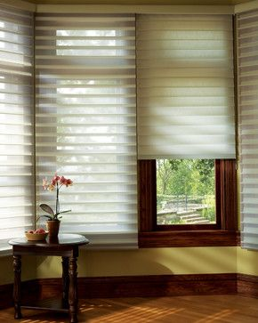 Silhouette® Quartette® window shadings with EasyRise™ cord loop eclectic cellular shades