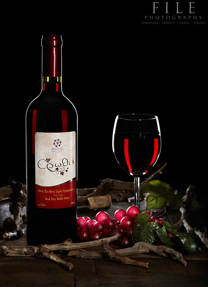 Red Wine studio photography project