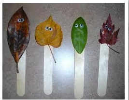 Leaf Puppets - Fall Project