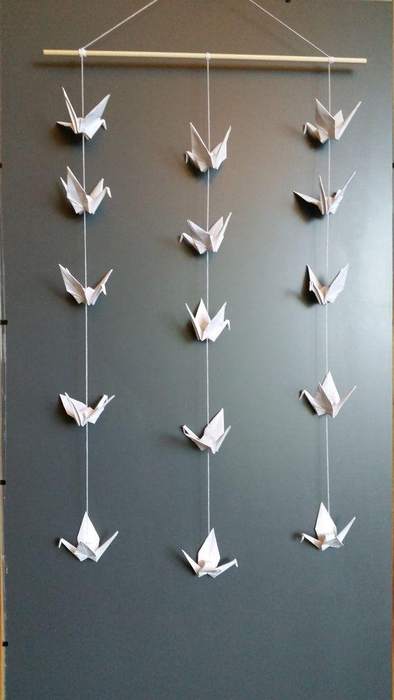 Handmade Origami Crane Mobile Wall Hanging Decoration - 15 ...