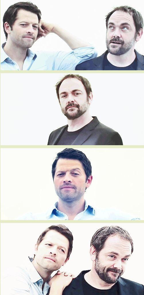 [GIFSET] Misha and Mark - they have a profound bond, lol! ;) Comic Con '14 TV Guide Interview promos