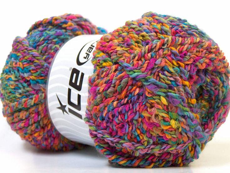 Fiber Content 98% Acrylic, 2% Elastan, Rainbow, Multicolor, Brand ICE, Yarn Thickness 6 SuperBulky  Bulky, Roving, fnt2-24719