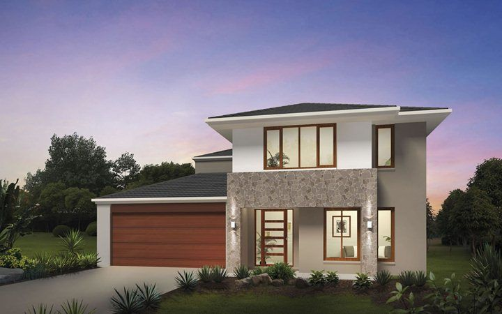 Metricon home designs the glendale traditional facade for Metricon new home designs