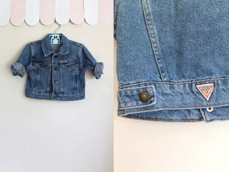 vintage 1980s baby denim jacket - GUESS faded blue jean jacket / 6-12M by MsTips on Etsy https://www.etsy.com/listing/474896987/vintage-1980s-baby-denim-jacket-guess