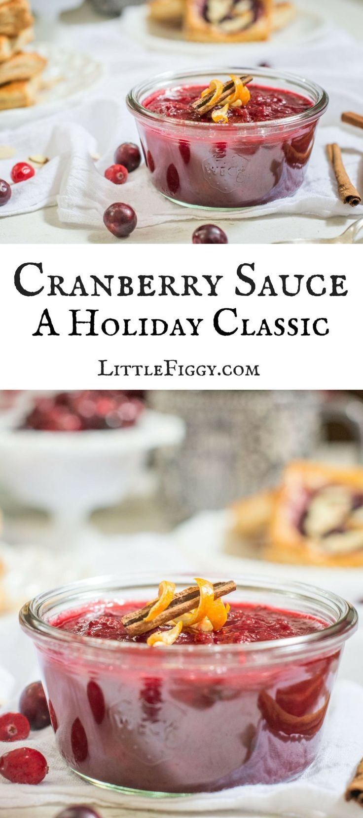 Easy to Make Cranberry Sauce, a Holiday Classic! Get the recipe at Little Figgy Food! via @LittleFiggyFood