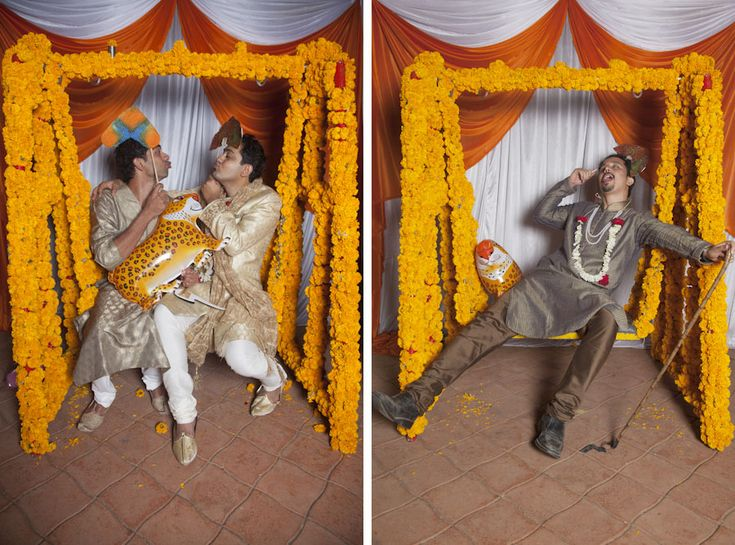 An Indian Maharaja themed photobooth with a fun swing set for a wedding by my team at Incredibooth on http://thisissheena.com #photobooth