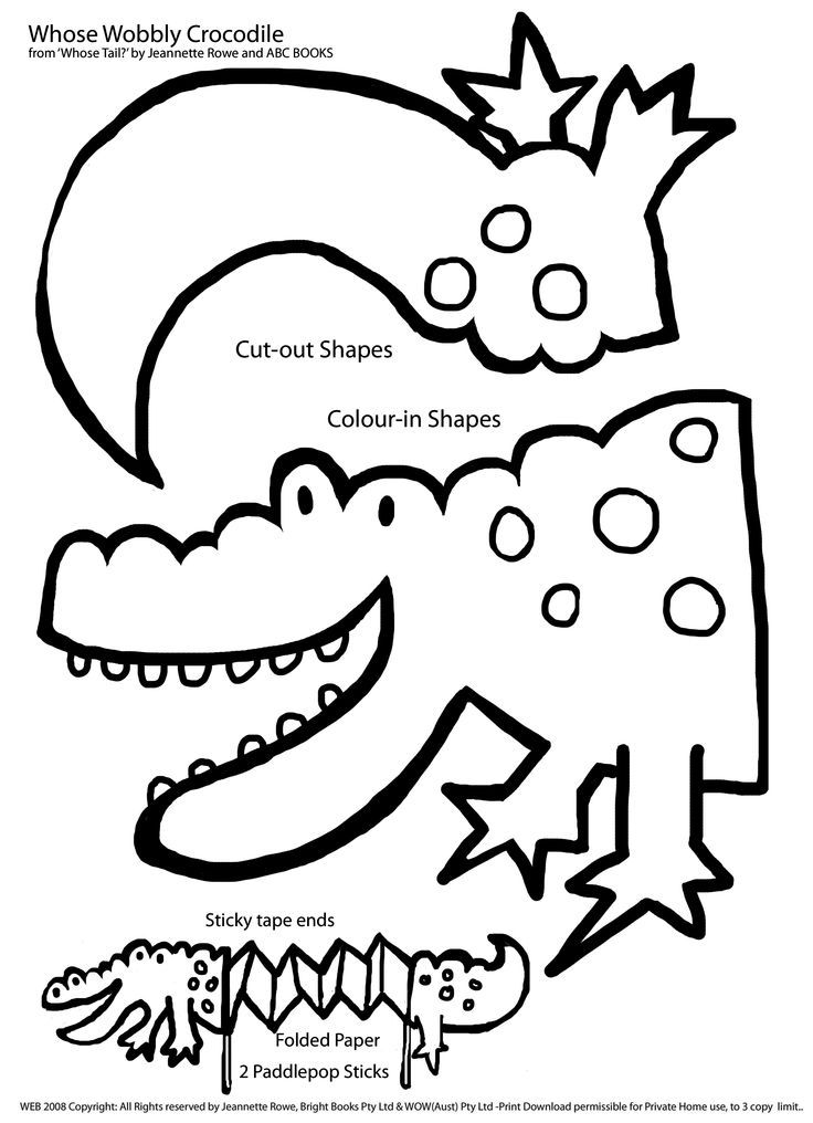 wobbly crocodile paper craft | All around us...weather, the world, pl…