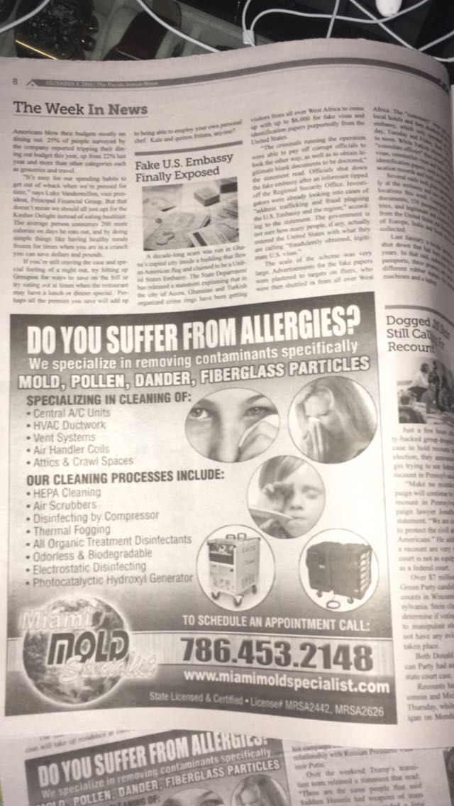 Do You Suffer From Allergies? We specialize in removing contaminants specifically #MOLD, #POLLEN, #DANDER, #FIBERGLASS PARTICLES