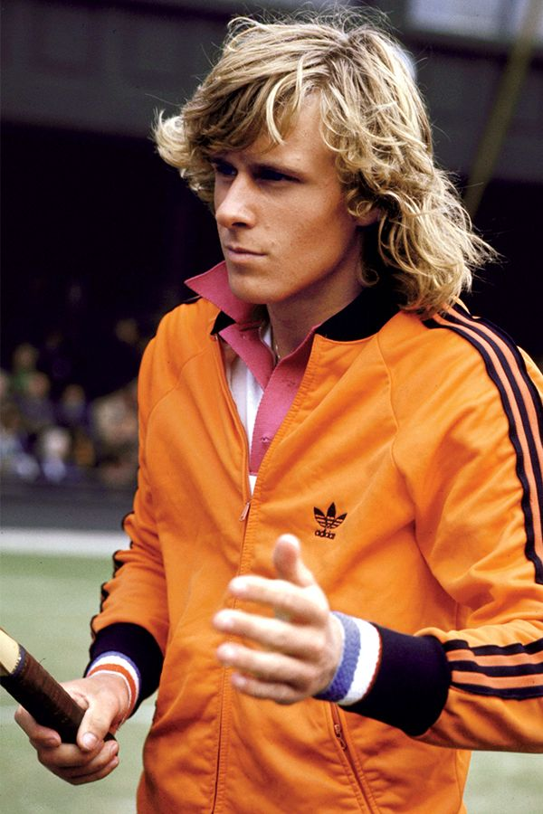 Bjorn Borg in a jacket by Adidas.