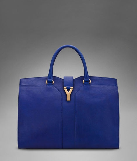 Check out Large YSL Cabas Chyc in Blue Leather at http://www.ysl ...