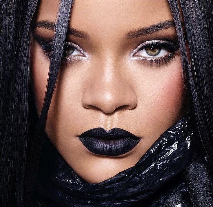 """Rihanna wearing the new Stunna Lip Paint """"UNINVITED"""