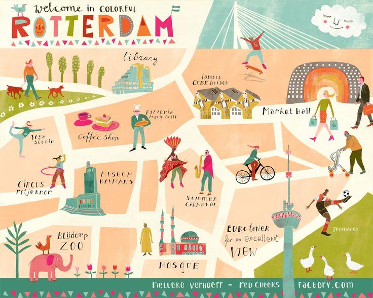Nelleke Verhoeff - map of Rotterdam
