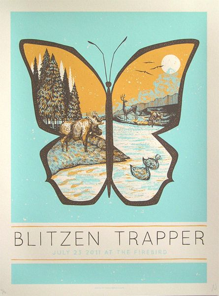 loveFrench Posters, Gig Posters, Posters Design, Art Prints, Graphics Design, Rocks Posters, John Vogl, Blitzen Trapper, Concerts Posters