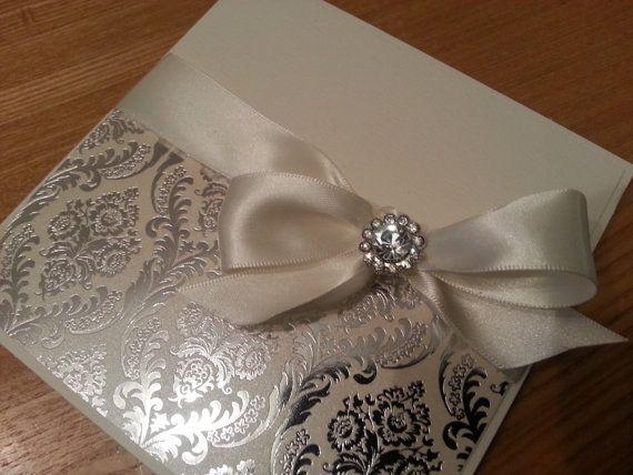 Luxury Handmade Personalised Pocketfold by CrystalCoutureinvite, £4.00