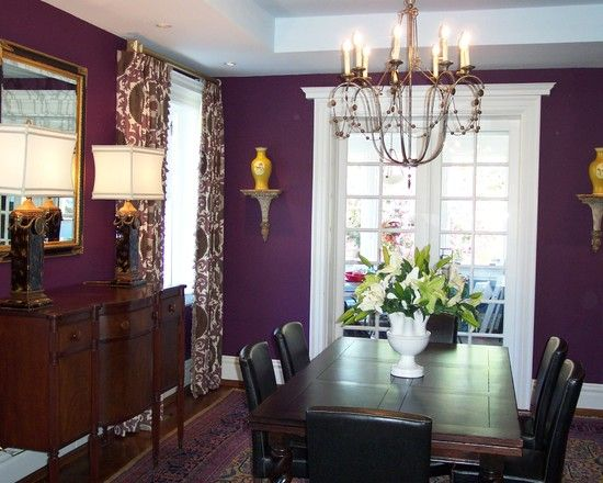 Top 25 Ideas About Purple Dining Rooms On Pinterest