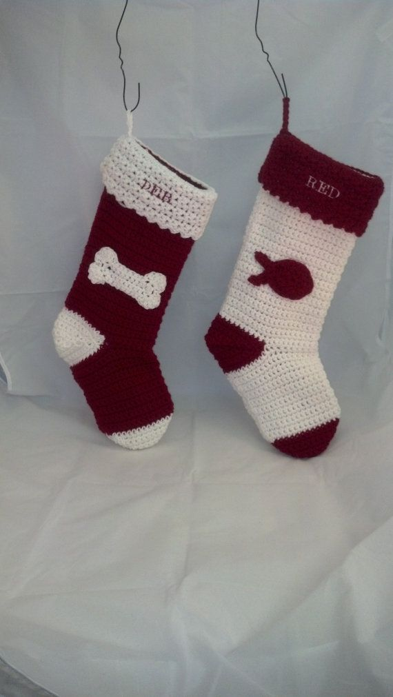 Personalized dog or cat christmas stocking by for Personalized dog christmas stocking