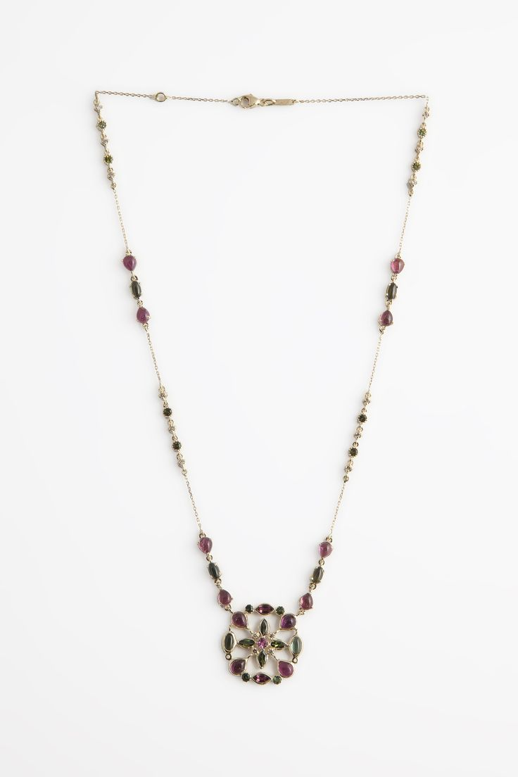 Hania Kuzbari  Arabesque collection  18k gold  diamond and tourmaline