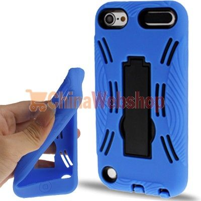 (behuizing + Silicon Case) met houder iPod touch 5 (Blauw)