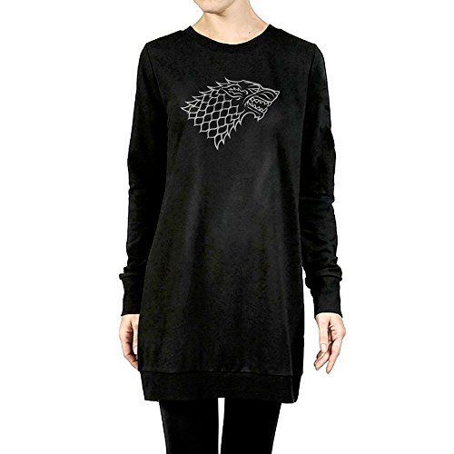 Womens House Stark Sigil Dragon Head Symbol Tunic Pullover Hoodie ** For more information, visit image link.(This is an Amazon affiliate link and I receive a commission for the sales)