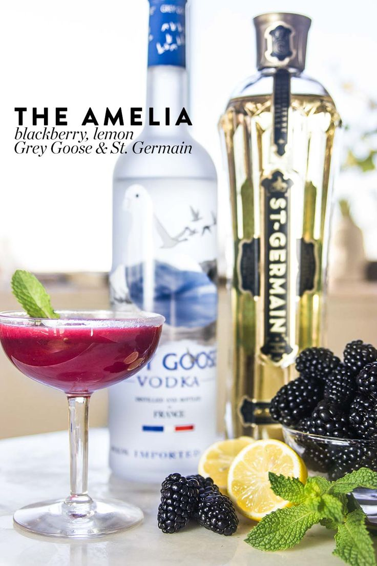 The Amelia: Blackberry, Grey Goose Vodka, St. Germain and Lemon Cocktail Recipe from Nordstrom; photo by Jeff Powell.