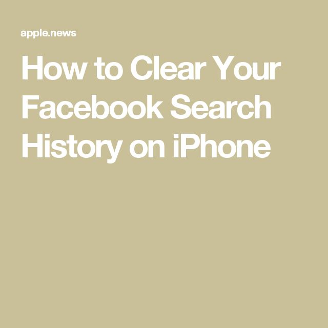 how to find facebook history on iphone