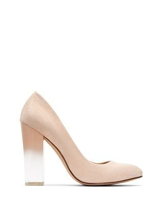 db2c5eea1 THE A.W., lucite ombré block heel nude pumps from Katy Perry ...