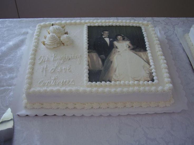 Sheet Cake Designs For Anniversary : 173 best images about cake decorating on Pinterest ...