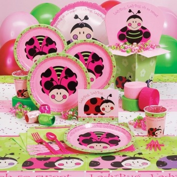 Pink Lady Bug Birthday!  Love it for Livi's 1st bday!