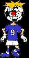Sports Buddies: Maak van papier je eigen soccer buddie in de kleuren van je eigen elftal.  Extra: plak de soccerbuddie op een groene achtergrond of op de kleuren van je vlag!