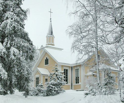 (via Wooden Church, a photo from Western Finland, South | TrekEarth) #Jämijärvi, #Finland