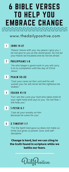 6 Bible verses for overcoming fear of change