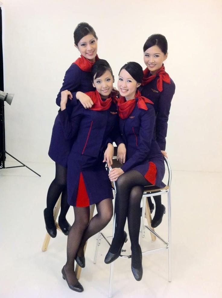 hongkong airlines stewardesses uniformes flight. Black Bedroom Furniture Sets. Home Design Ideas