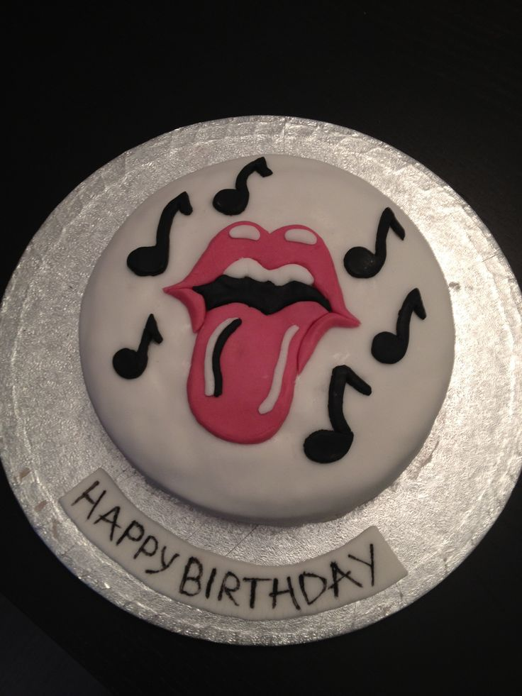 Rolling Stones Birthday Cake Happy Birthday