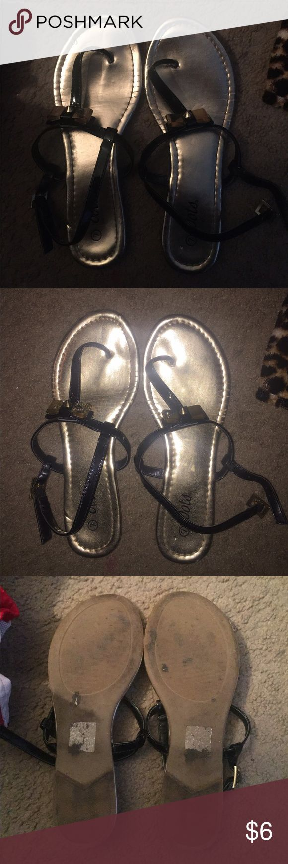 Dots Sandals these are pretty worn & that's why they are listed so cheap. still in tack though. super cute to dress down or fancy up! Dots Shoes Sandals
