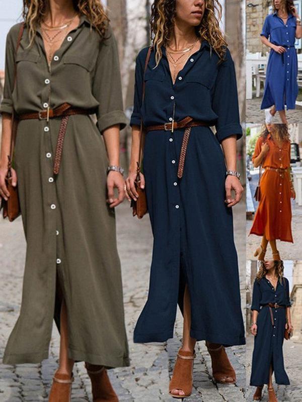 c50ae0cfae9d6 wedreammore Deep blue Women Summer Dress Shift Date Dress Short Sleeve  Linen Paneled Solid Dress