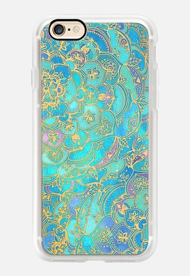 Casetify iPhone 7 Case and Other iPhone Covers -  Sapphire & Jade Stained Glass Mandalas by Micklyn Le Feuvre   #Casetify