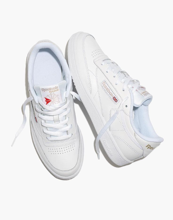 Reebok Club C 85 Lace Up Sneakers In 2020 Reebok White Sneakers White Sneakers Women Reebok Club