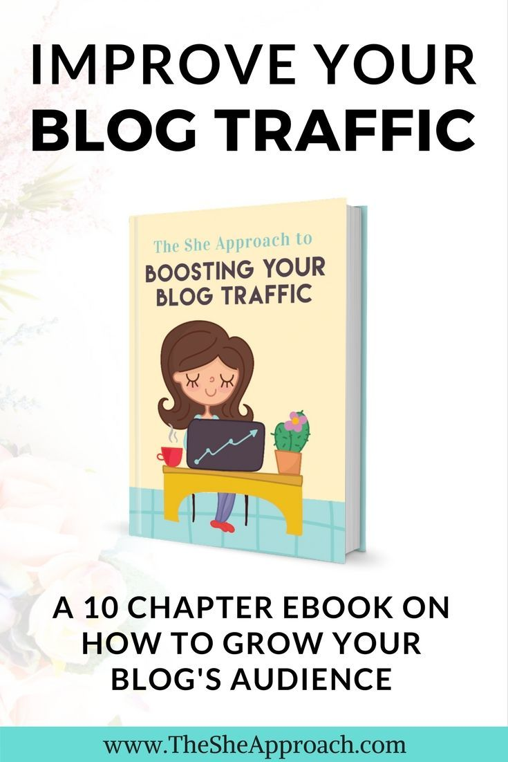 The She Approach To Boosting Your Blog Traffic is a 10 chapter ebook that will teach you how to increase your page views, grow your blog and reach your target audience. Blogging tips, SEO tips for beginners, guest posting, Pinterest for blog traffic and more tips included.