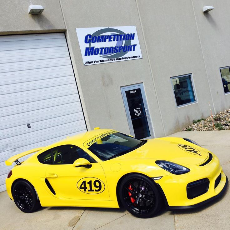 Is it bumblebee season already? Our friends at Competition Motorsport equipped their shop's #Porsche #Cayman #GT4 for track days with new Giro Disc rotors, PFC brake pads, titanium lug bolts, Hoosier R7 tires, and 19x9/19x10.5 #Forgeline one piece forged #monoblock #VX1R wheels finished in Gloss Black. See more at: http://www.forgeline.com/customer_gallery_view.php?cvk=1898