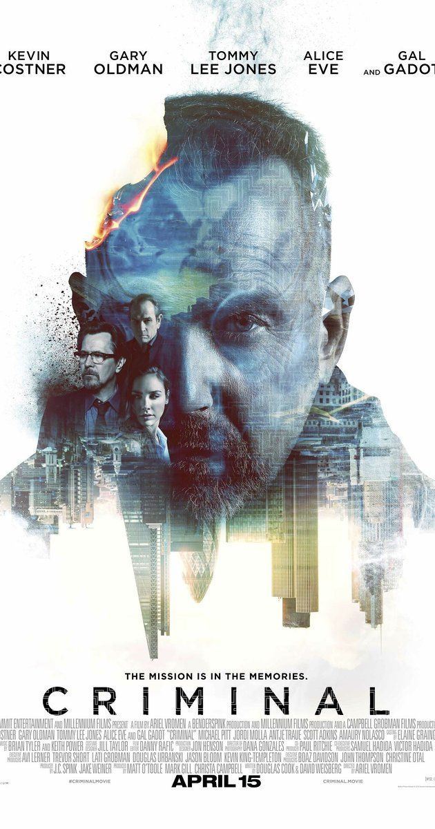 Directed by Ariel Vromen.  With Gal Gadot, Ryan Reynolds, Alice Eve, Gary Oldman. The memories & skills of a deceased CIA agent are implanted into an unpredictable and dangerous convict.