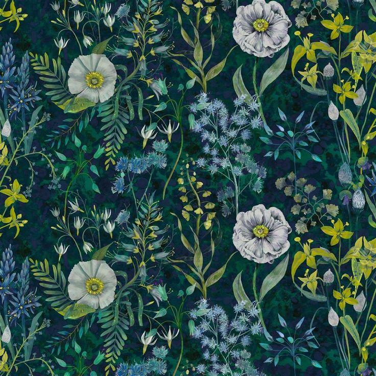 Fritillaria Malachite Fabric | Designers Guild