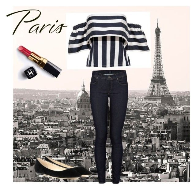 """Stripes for Paris"" by borbalastyle on Polyvore featuring Citizens of Humanity, Jimmy Choo and Chanel"