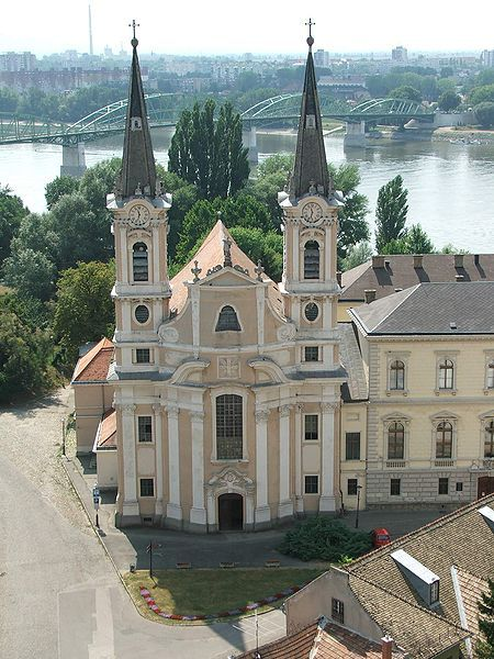 Church in Esztergom-Víziváros (Watertown), Hungary.
