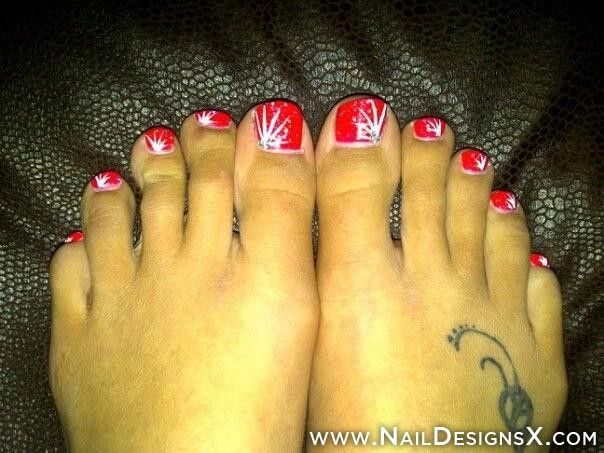 156 best toe nail designs nail art images on pinterest art sexy red toe nail design prinsesfo Image collections