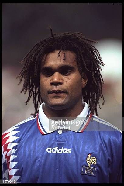 Portrait of Christian Karembeu before the start of the European Championships qualifier against Israel
