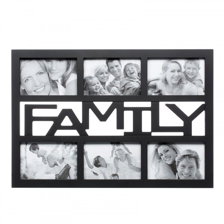 """FAMILY 6 Photos Frame Wall Hanging by Archies  Condition: New: A brand-new, unused and undamaged item that is fully opeartional and functions as intended. Photo Size (Inch):4""""x6"""" Colour:GoldMaterial:Plastic Frame Dimension:50 x 36 x 4Type:Multi-Photo/Collage Frame Brand:Archies"""